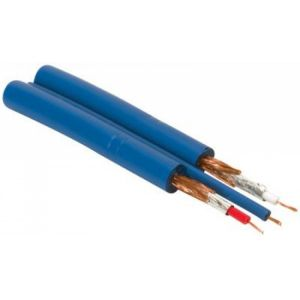 Cable RCA tipo Phyton, calibre 26 AWG, color azul