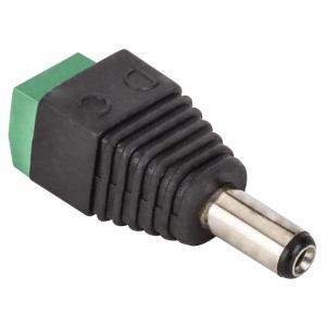Adaptador Conector invertido 2.1 mm a 2 terminales atornillables